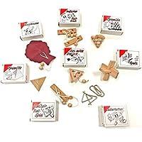 8 beliebte Geduldsspiele im Set mit Lösungshinweis