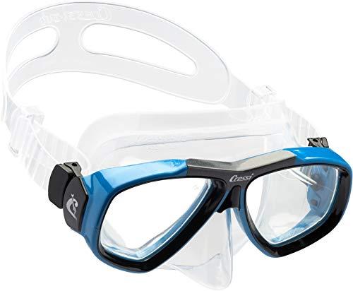 Cressi Focus Masque de Plongée Snorkeling Adulte, Compatibles Verres Correcteurs Clear/Blue