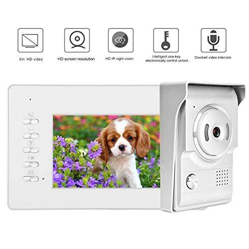 Türklingel 7 Zoll TFT-Monitor Video-Türklingel-Telefon - Türsprechanlage Intercom-System Tür entriegeln, Nachtsicht, 2-Wege-Gespräch für Home Security (UK),Vereinigtes Königreich