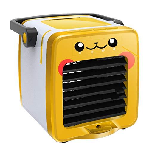 Splrit-MAN Mobile klimageräte, Mini Air Cooler, 3 in 1 Ventilator Luftbefeuchter Aromatherapie und Luftreiniger, USB Mini luftkühler mit wassertank und 4 Leistungsstufen für Zuhause und Büro -