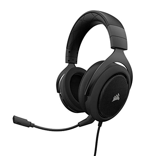 Corsair HS60 Surround 7.1 Cuffie da Gaming con Microfono Staccabile per PC/PS4/Xbox/Switch/Mobile, Carbonio