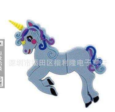 Geschenk-UK® 16GB Motiv, Rosa, Weiß, Einhorn, Pferde Pony Novelty USB-Flash-Drive-Speicher Stick * Sportschuhe 16 GB design 1 -