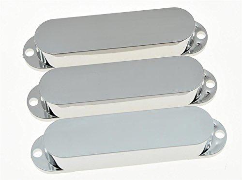 kaish chrom Kunststoff ST Strat geschlossen Single Coil Pickup Cover versiegelt Pickup-Kappen (Kappe Cover)
