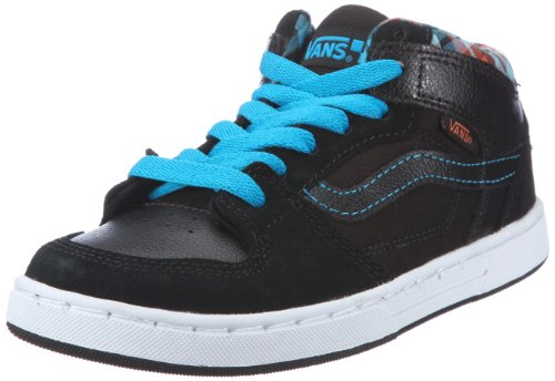 Vans Edgemont, Baskets mode garçon Noir (Plaid Blk/Blu)