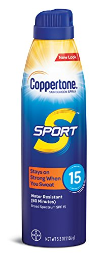 Coppertone SPORT Continuous Sunscreen Spray Broad Spectrum SPF 15 (5.5 Ounce) (Packaging may vary) -