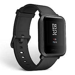 Amazfit Bip Smartwatch, GPS Activity Tracker mit Herzfrequenzmessung Schlafmonitor, Fitness-Tracker, Schrittzähler, Kalorienzähler, IP68 Wasserdicht, 30+ Tage Akkulaufzeit (Black)