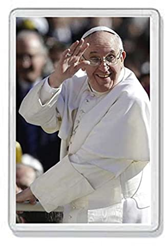 AWS Magnet Santino in PVC Hartschale Papa Francesco Lachender Souvenir Fridge Magnet Magnet für Kühlschrank aus hartem Kunststoff mit Bild Foto Jorge Mario Bergoglio (Papst Franziskus die (Bilder Papst Franziskus)