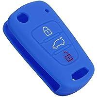 Kia KX3 - Carcasa para Llave de Coche (3 Botones, Silicona), Color
