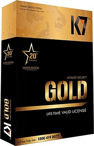 K7 Gold Lifetime Antivirus & Internet Security - 1 PC