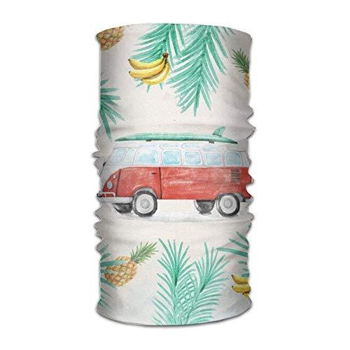 Stirnband Ananas Kostüm - Casepillows Sommer Ananas Banana Art Bus Kopfbedeckung Stirnband Halstuch elastisch Haarband Magic Kopftuch Bandana Cute Kopfschmuck Gesichtsmaske Nackenband