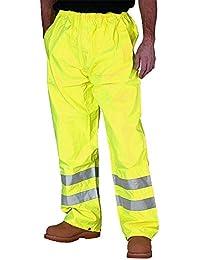 Fast Fashion - Pantalons Viz Hi Pluie Imperméable Dessus Un Pantalon Haute Visibilité Vis Des Élastique – Mens