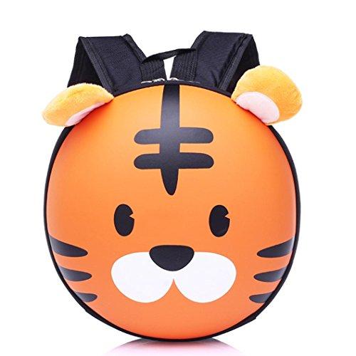 �t Unisex★Kinder Rucksack Harte★Mini Backpack Mädchen Jungen/Schule Baby-Kindergarten/Kinder Gartentasche/Tier Tiger Muster (Orange) (Tiger Kostüm-muster)