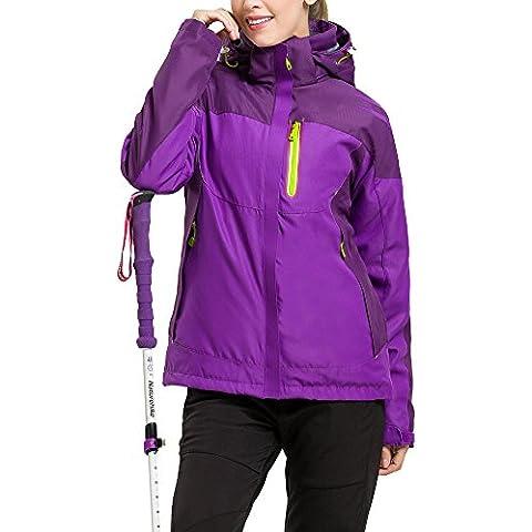 LaoZan - Chaqueta de Invierno - Esquí Acampada y Senderismo - Transpirable Impermeable y Cortaviento - Mujer - Color 3