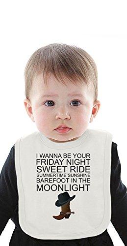 I Wanna Be Your Friday Night Sweet Ride Slogan Organic Bib With Ties Medium