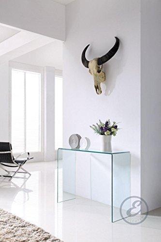 Consolle da Salotto in Vetro curvato - Luxury Z-03 - 126 x ...
