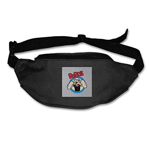 HKUTKUFGU Bauchtasche für Damen und Herren Popeye Up Your Dukes Taillentasche Reisetasche Geldbörse Bauchtasche für Laufen, Radfahren, Wandern, Workout -