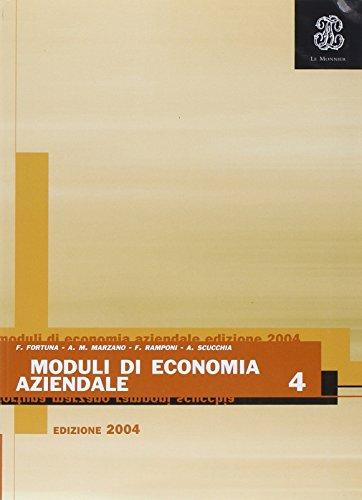 Moduli di economia aziendale. Per gli Ist. Professionali per i servizi commerciali: 4