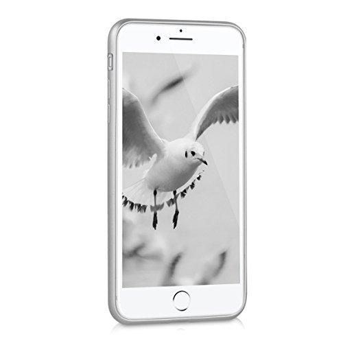kwmobile Étui en TPU silicone élégant pour Apple iPhone 7 Plus / 8 Plus en or rose métallique .argenté métallique