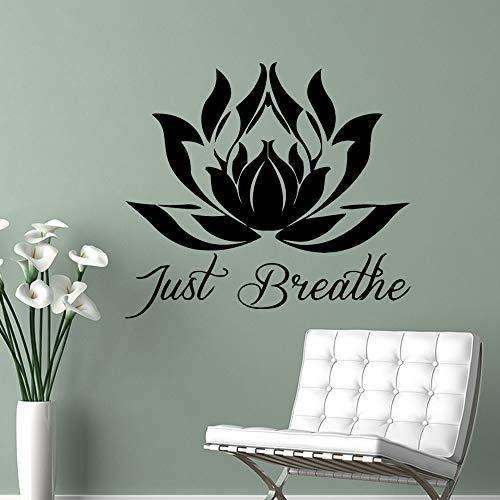 TYLPK Mandala Lotus Wandkunst Aufkleber Wandaufkleber Pvc Wandtattoos Dekoration Zubehör Wandbilder Braun L 58cm X 64cm