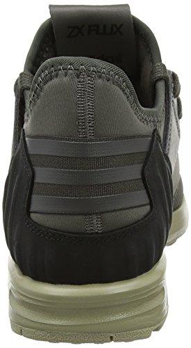 Adidas Zx Flux Plus, Scarpe Running Uomo Verde (gris Foncé / Utilitaire Gris / Ftf Blanc)