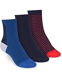 ThokkThokk 3er Pack Mid-Top Socken Art Deco/Midnight/Stripe GOTS Fairtrade