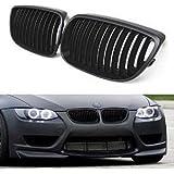 SENGEAR - Rejillas Frontales Parrillas Delanteras Sport Grill 1 Par para BMW E92 E93 328i 335i Modelo de 2 Puertas ( negro mate)