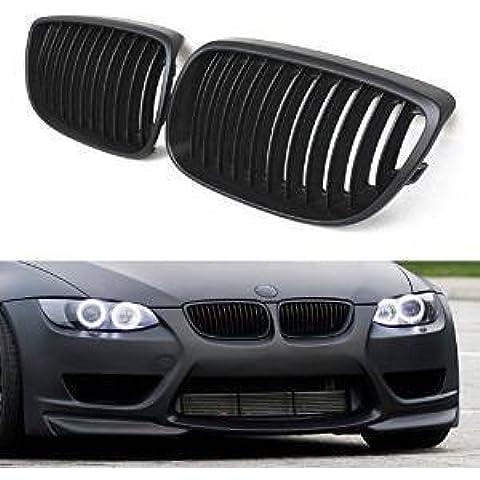 SENGEAR - Rejillas Frontales Parrillas Delanteras Sport Grill 1 Par para BMW E92 E93 328i 335i Modelo de 2 Puertas ( negro