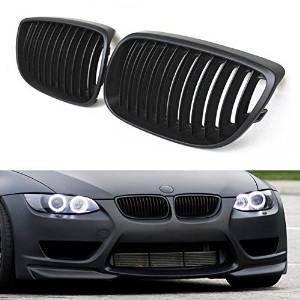 Sengear - 1 paio di griglie anteriori per BMW E92 E93 E90 328i 335i, per modelli a 2 porte, colore: nero