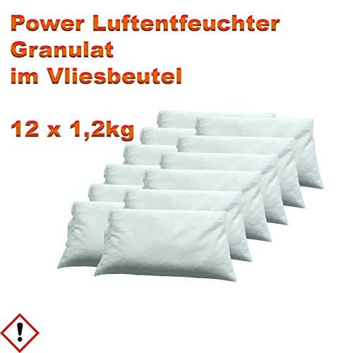 12 x 1,2kg Luftentfeuchter Granulat Nachfüllpack im Vliesbeutel