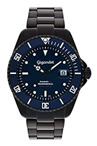 Gigandet Automatik Herren-Armbanduhr Sea Ground Taucheruhr Uhr Datum Analog Edelstahlarmband Blau Schwarz G2-013