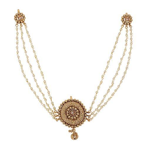 MUCHMORE Glamorous Gold vergoldet indischen Haar Pin Haar Clip Haar Schmuck für Damen