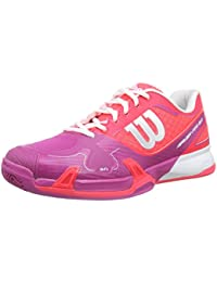 Wilson  RUSH PRO 2.0 Clay Court W NEON RED W 4.5, Chaussures spécial tennis pour femme