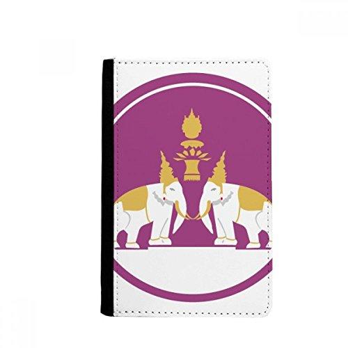 beatChong Tailandia Hizo En Tailandia Dos Elefante Tarjeta Monedero Caso De La Cubierta Cartera De Viaje De Pasaporte Escudo