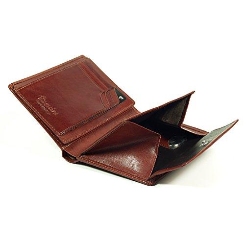 Esquire Toscana Élevébörse mit Geheimfach Noir Marron (Brown)