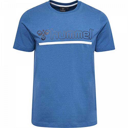 Hummel Herren HMLBRICK T-Shirt S/S, Vallarta Blue, M