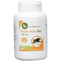 Herbes Et Plantes Radis Noir Bio 200 Comprimés 400 mg