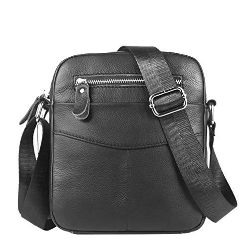 DCRYWRX Herren Umhängetasche Business Casual Tragen Bequeme Mobile Kasse Sport Messenger Tasche,Black (Mobile Kasse)