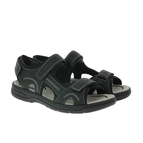 Rieker Mens 26280-00 Sandales Noirs Noir