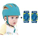 Liltoes Baby Safety Helmet Corner Guard & Proper Ventilation with Kneepad (Royal Blue)