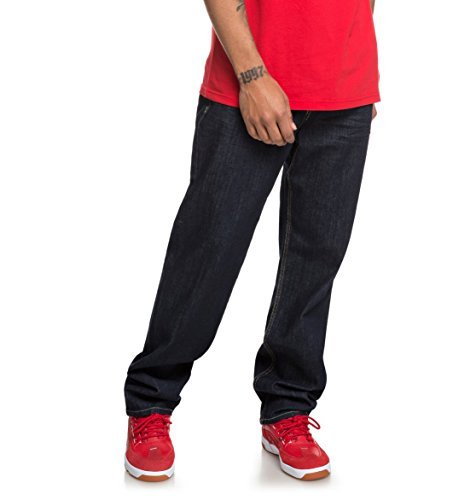 DC Shoes Worker Indigo Rinse - Relaxed Fit Jeans for Men - Männer (Jeans Dc Shoes)