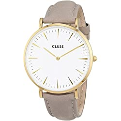 Cluse Unisex Analogue Watch with White Dial Analogue Display - CL18414
