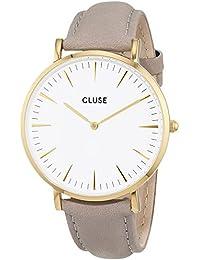 Cluse Unisex-Armbanduhr Analog Quarz Leder CL18414