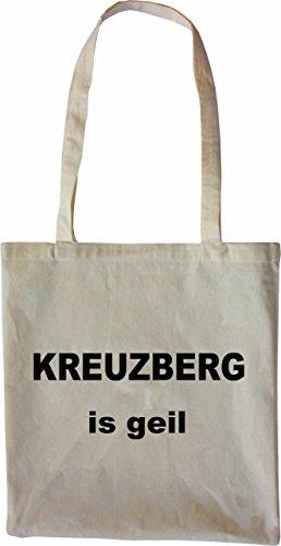 Mister Merchandise Tasche Kreuzberg is geil Stofftasche , Farbe: Schwarz Natur