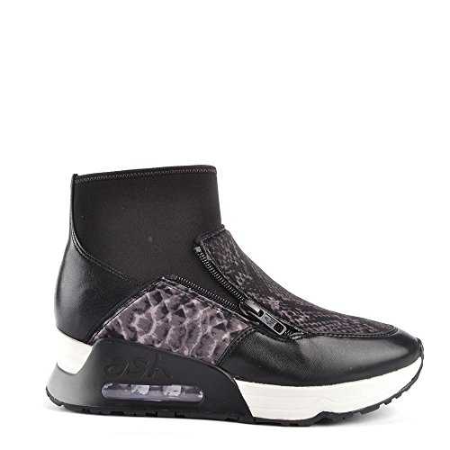 Ash Scarpe Liu Bis Sneaker di Cuoio, Donna Nero