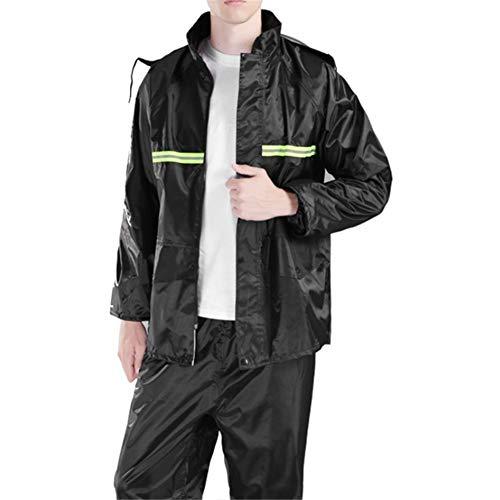 ODIFFTY wasserdichte Regendicht Winddicht Regenkleidung Anzug Erwachsener Split REIT Raincoat verdickte Doppel Reflective Raincoat (Size : L)