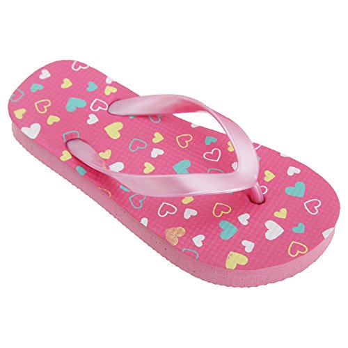 41zkbR3YfpL - BEST BUY #1 FLOSO® Childrens Girls Heart Patterned Toe Post Flip Flops (UK Child 11-12) (Pink) Reviews and price compare uk