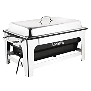 Olympia Electric Chafing Dish 100mm Deep Pan Stand Adjustable Temperature