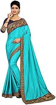 Sabaira Women's Cotton Silk Saree (SBRSA3231_Sky B