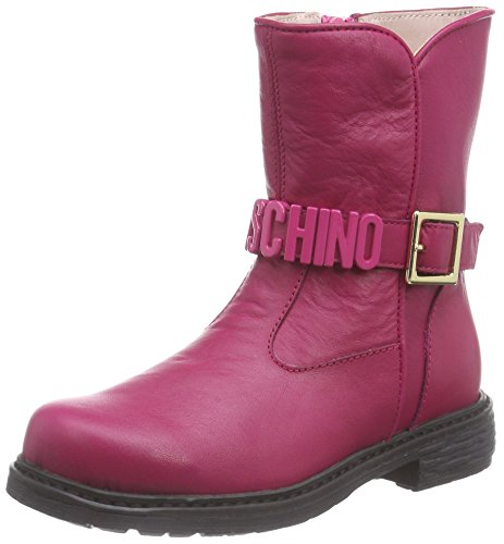 Moschino 25752, Stivaletti classici imbottiti, corti Ragazza, Rosa (Pink (Pink                  9103)), 28