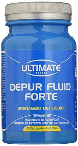 Ultimate italia integratore alimentare per il drenaggio dei liquidi - gusto ananas -  250 g